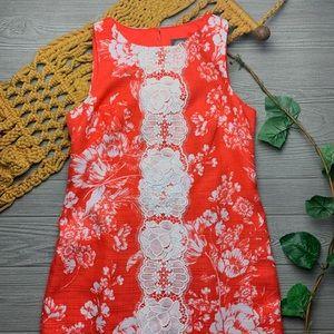 💕Vince camuto shift dress floral lace coral 💕